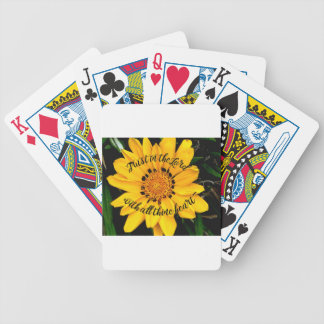 Trust in the Lord Bright Yellow Flower Bicycle Playing Cards