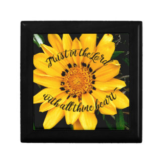 Trust in the Lord Bright Yellow Flower Gift Box