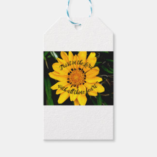 Trust in the Lord Bright Yellow Flower Gift Tags
