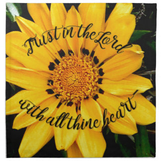 Trust in the Lord Bright Yellow Flower Napkin