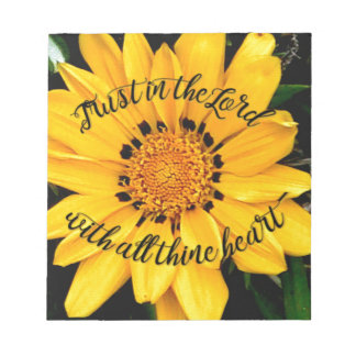 Trust in the Lord Bright Yellow Flower Notepad