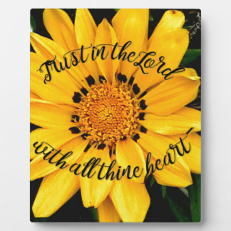 Trust in the Lord Bright Yellow Flower Plaque