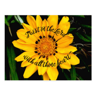 Trust in the Lord Bright Yellow Flower Postcard