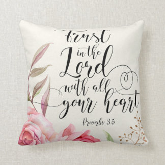 Trust In The Lord Cotton Pillow