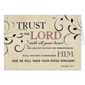 Trust in the Lord Encouragement Card
