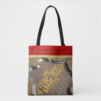 Trust in the Lord with a vintage holy Bible.bltx Tote Bag