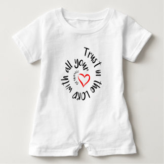 Trust In The LORD With All Your Heart Baby Romper