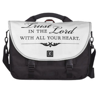 Trust in the Lord With All Your Heart Laptop Computer Bag