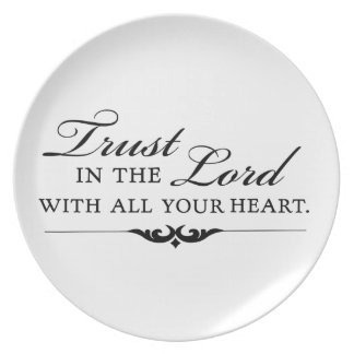Trust in the Lord With All Your Heart Party Plates