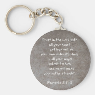 Trust in the Lord with all your heart...Proverbs 3 Keychain
