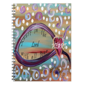 Trust in the Lord With All Your Heart Spiral Notebook