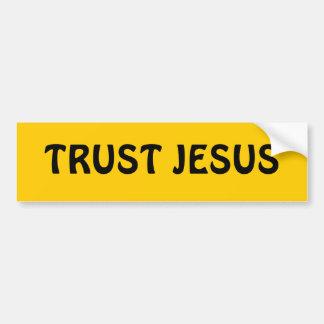TRUST JESUS BUMPER STICKER