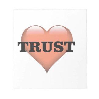 trust love notepad