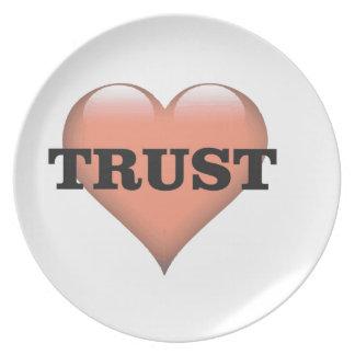 trust love plate