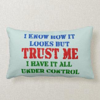 Trust Me -- All Under Control Lumbar Pillow