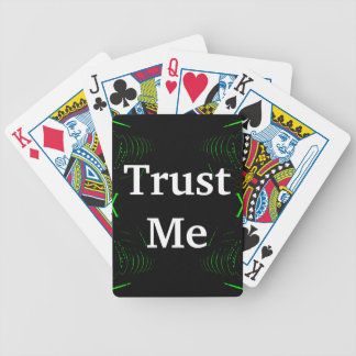 Trust Me Design White on Black Bicycle Playing Cards