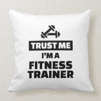 Trust me fitness trainer throw pillow
