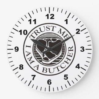 Trust me, I am a Butcher T-bone Large Clock