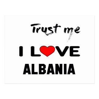 Trust me I love Albania Postcard