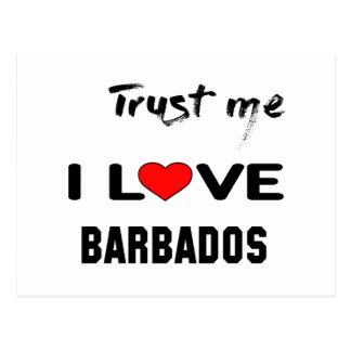 Trust me I love Barbados. Postcard