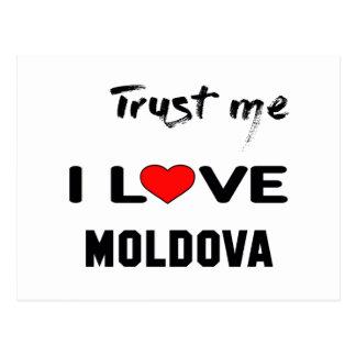 Trust me I love Moldova. Postcard