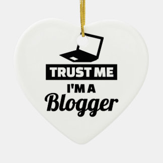Trust me I'm a blogger Ceramic Heart Ornament