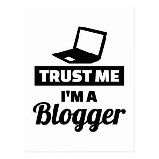 Trust me I'm a blogger Postcard