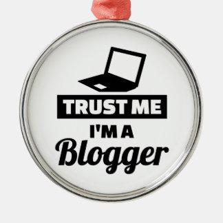 Trust me I'm a blogger Silver-Colored Round Ornament