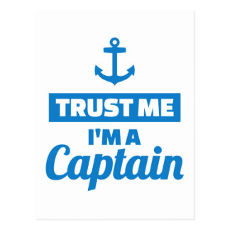 Trust me I'm a captain Postcard