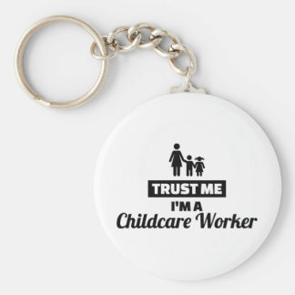 Trust me I'm a childcare worker Keychain