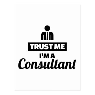 Trust me I'm a consultant Postcard