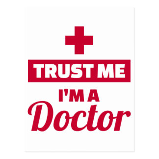Trust me I'm a doctor Postcard