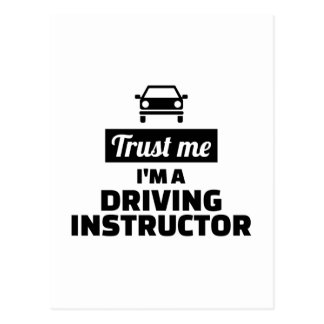 Trust me I'm a driving instructor Postcard
