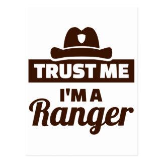 Trust me I'm a ranger Postcard