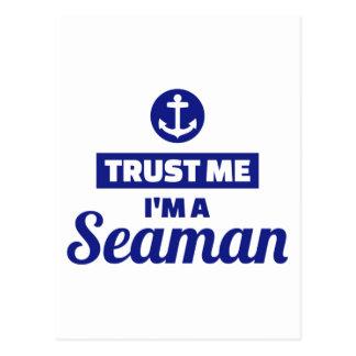 Trust me I'm a seaman Postcard