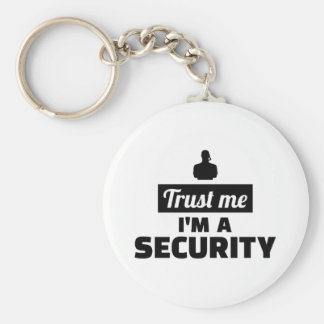 Trust me I'm a security guard Keychain