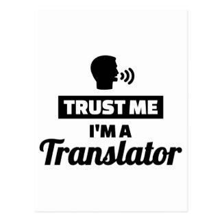 Trust me I'm a translator Postcard