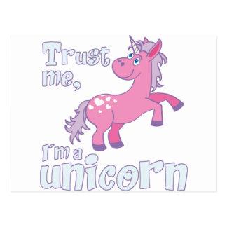 trust me i´m a unicorn postcard