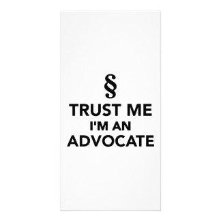 Trust me I m an advocate Photo Card
