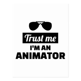 Trust me I'm an animator Postcard