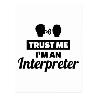 Trust me I'm an Interpreter Postcard