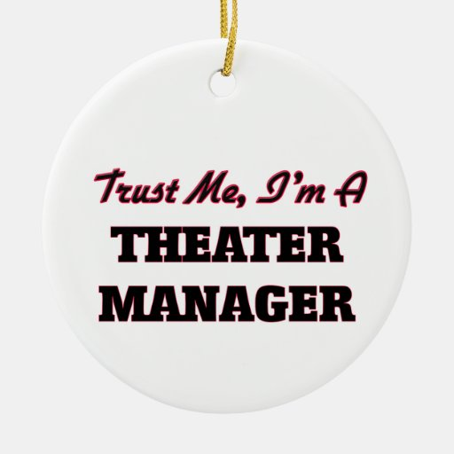 Trust me I'm a aater Manager Christmas Ornament