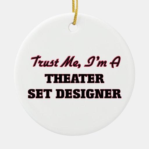 Trust me I'm a aater Set Designer Christmas Tree Ornaments