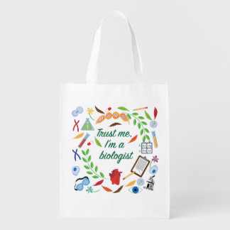 Trust Me, I'm a Biologist Reusable Grocery Bag