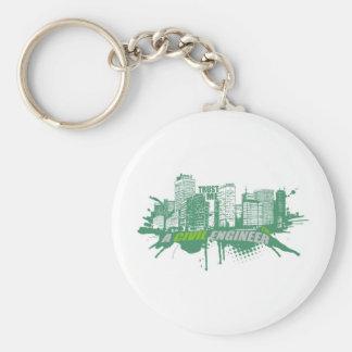 Trust Me I'm A Civil Engineer 2 Basic Round Button Keychain