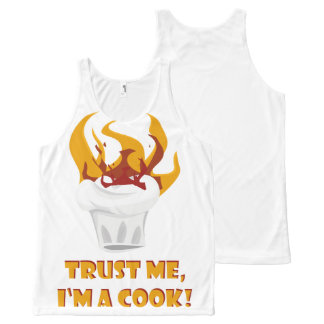 Trust me i'm a cook! All-Over-Print tank top