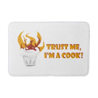 Trust me i'm a cook! bathroom mat