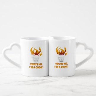Trust me i'm a cook! coffee mug set