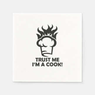 Trust me i'm a cook! disposable napkin