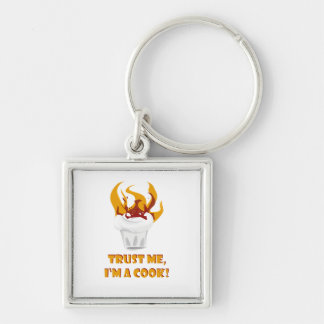 Trust me i'm a cook! keychain